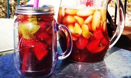 Ceai rece cu pepene