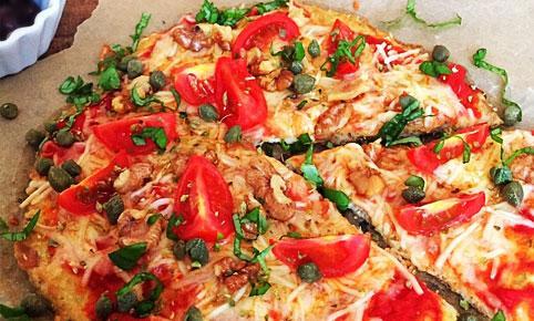 Pizza cu blat din ton - fara faina