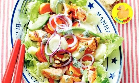 Salata de iarna cu somon si pastarnac