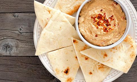 Hummus cu unt de arahide