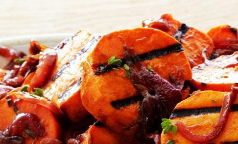 Salata de cartofi dulci la gratar